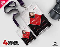 Photo Identity Card Template PSD Set