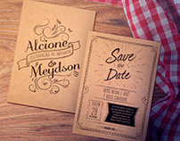 Convite Noivado - Meydson e Alcione
