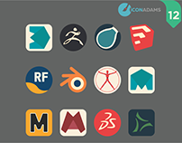 12 iCons 3D app.
