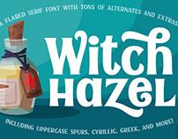 Witch Hazel - a Fun Flared Serif Font