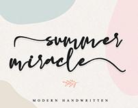 FREE | Summer Miracle Modern Handwritten Font
