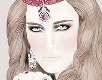 Portrait de Amina Allam inspiré des 1001 nuits !