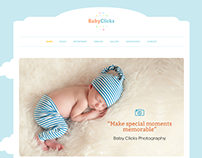 Baby Clicks Photography Website