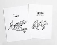 3 animal constellation illustrations