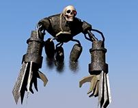 Skull Machine. Game model. 3d-Model for game.3ds Max.