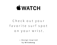 Surf Report — Apple Watch Design
