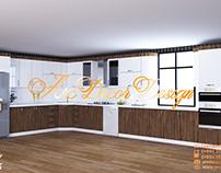 Simple Modern Kitchen Design 3D Specialist Xəqani Əhməd