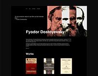 Dostoyevsky work library website concept