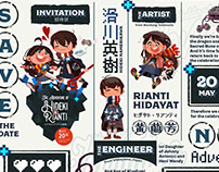 """The Adventures of Hideki & Rianti"" Wedding Invitation"