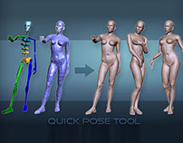 3d Female. Quick Pose Tool