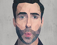 Adam Levine | Polygonal Portrait