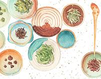 watercolor food 憋不出更多的英语了......