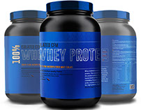 Protein Whey Packaging Design