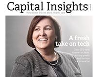 Cover Shoot for Capital Insights Magazine