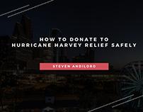 Steven Andiloro | Donate to Hurricane Harvey Relief