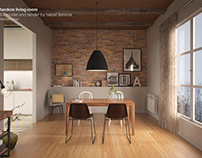 Living Room. 3d model + Render