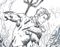Aquaman comic cover test