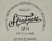 Handmade font regular freehand - Fait main 1