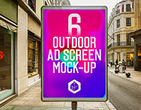 Outdoor Advertising Screen Mock-Ups 13 (v.4)