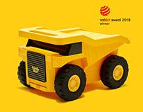Mining Truck Kids Trolley Case