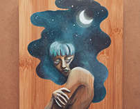 Lucid (Acrylic on wood )