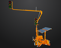ADDCO PTS-2000 Portable Traffic Signal 3D Rendering