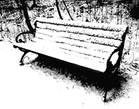 The Wintery Park Bench
