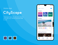 App UI/UX Design - CityScape
