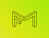 """MF"" - personal identity logo"