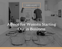 Karen Dovner -Advice for Women Starting Out in Business