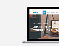 Edge WordPress Theme - MacBook View