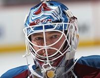 JS Giguere/Colorado Avalanche Goalie Mask