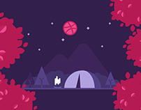 Dribbble debut animation