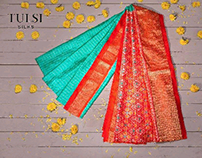 Tulsi Silks  product shoot