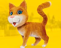 Mascote 3D Gatita