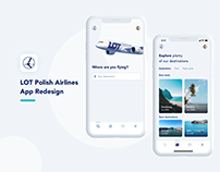 LOT Polish Airlines - App redesign. Case study.