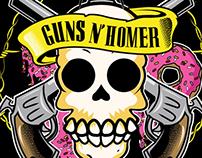 FAN ART GUNS N' HOMER