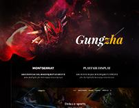 Gungzha - E-sports Landing Page
