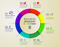 Free Modern Infographics Options Banner Download