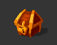 Chest Box Game Asset Design