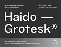 TG Haido Grotesk® : Contemporary Grotesk Typeface