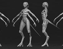 Alien Character Concept Sculpt