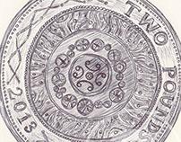 Ballpen British Coins