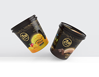 Ice cream container packaging design