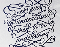 Seek First to Understand Poster