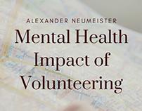 Mental Health Impact of Volunteering