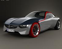 Opel GT 2016 - 3d model