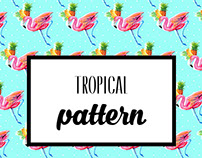 Tropical pattern project for home.
