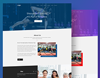 Free Yoga/Gym Landing page ui