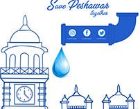 Save water on earth banner